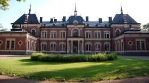 Malmgårdin kartanon linna on komea näky.
